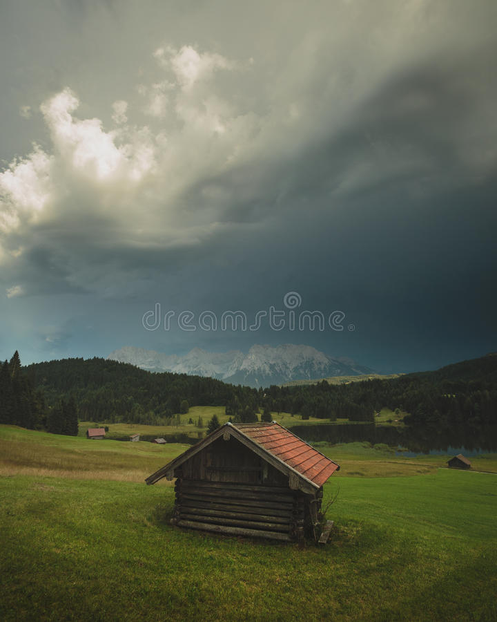 La Bavière orageuse photo stock