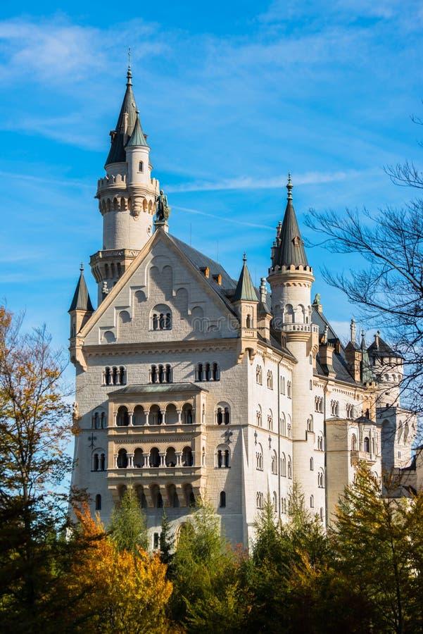 La Baviera del castello del Neuschwanstein, Germania fotografia stock libera da diritti