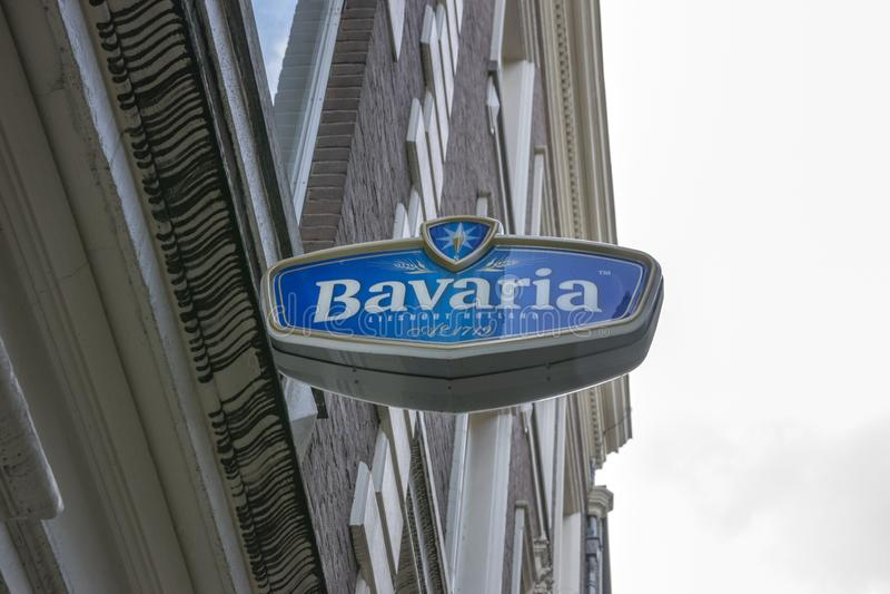 La Baviera del tabellone per le affissioni a Amsterdam i Paesi Bassi 2019 fotografia stock libera da diritti