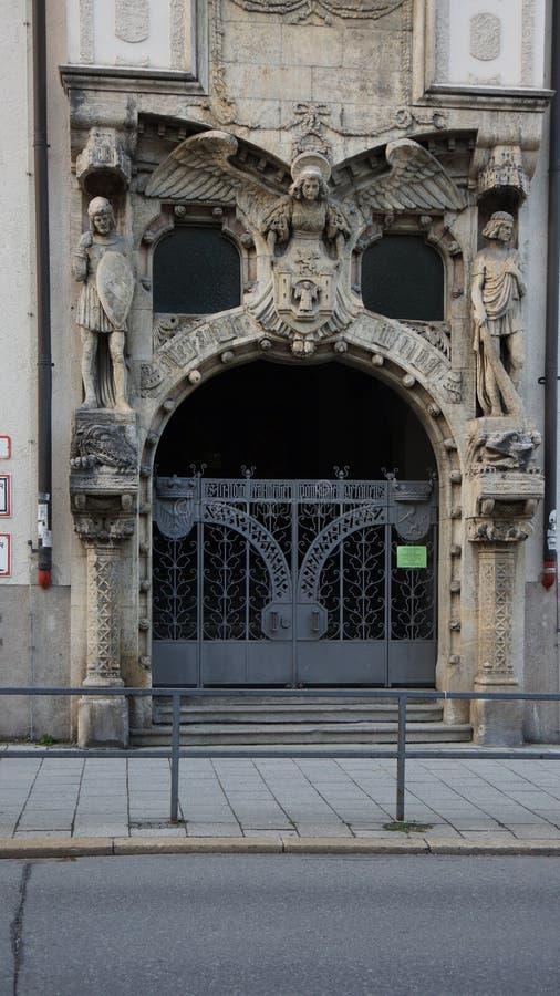la Baviera massima di Monaco di Baviera del posto di Josef dell'entrata del teatro nazionale fotografia stock libera da diritti