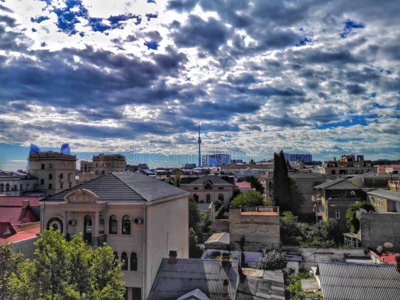 La beauté de Bakou ! images libres de droits