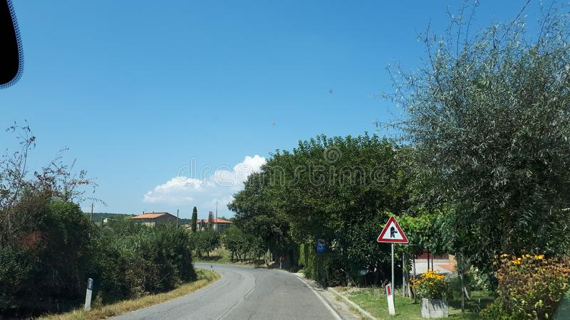 La beauté de la campagne de la Toscane Italie photos libres de droits