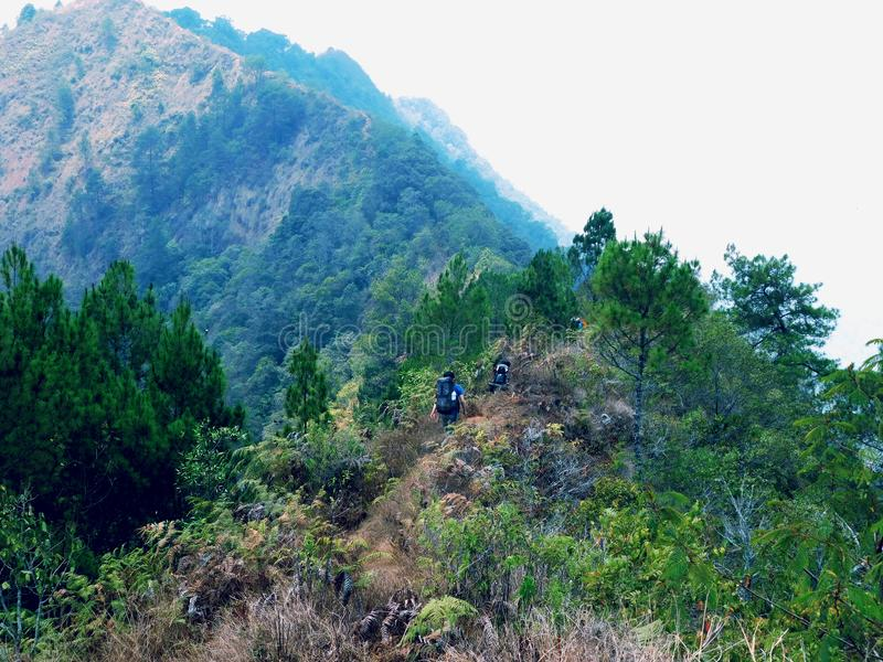 La beauté de la montagne de Bandung photographie stock