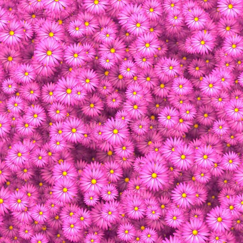 La beauté fleurit la dispersion dans l'illustration du mur 3D rendent illustration stock