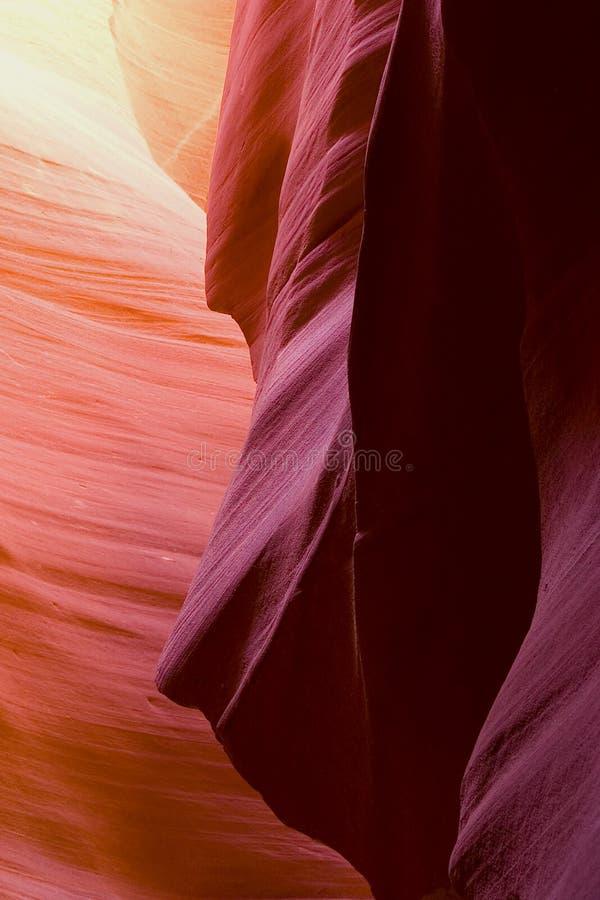 La beauté normale des gorges d'antilope d'Arizonas image libre de droits