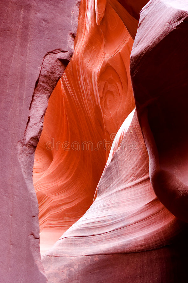 La beauté normale des gorges d'antilope d'Arizonas photographie stock libre de droits