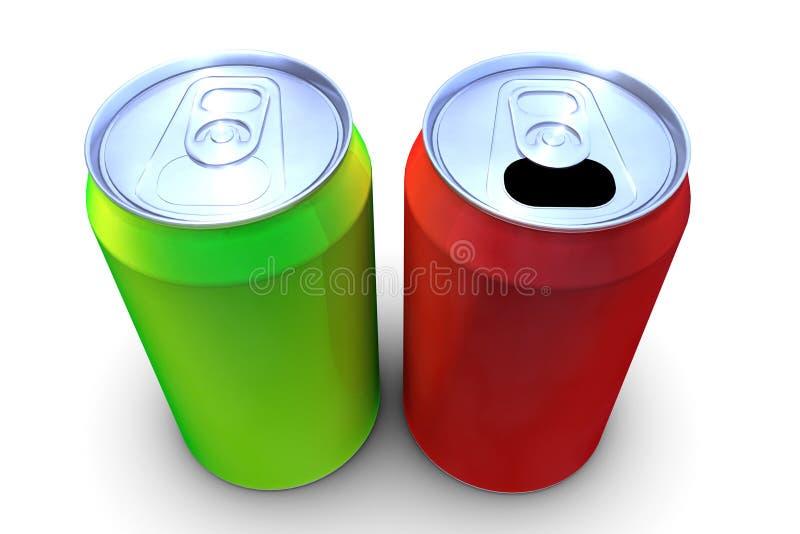la bebida 3d puede stock de ilustración