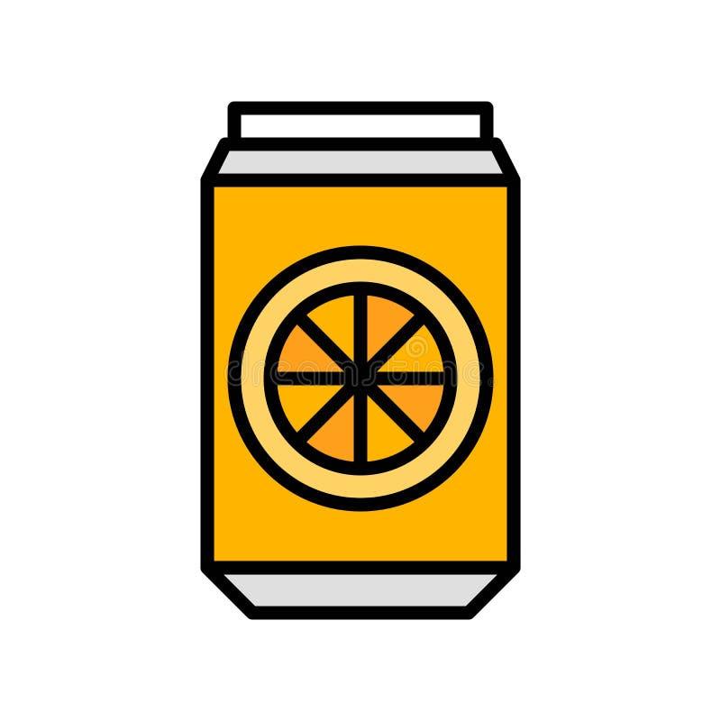 La bebida puede vector, icono llenado relacionado del partido del verano ilustración del vector