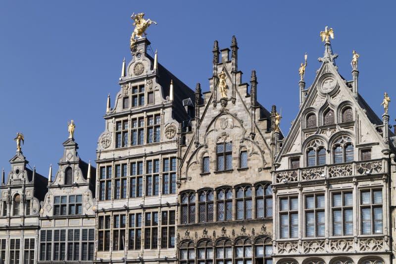 La Belgique, Anvers, le 17 mars 2016, rangée de guil flamand historique photos stock