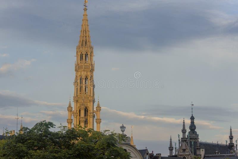 La Belgique, Bruxelles, Grand Place hôtel de ville ` s de ville photos stock