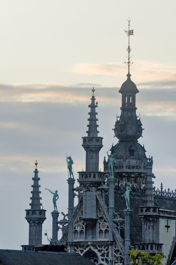 La Belgique, Bruxelles, Grand Place le Breadhouse photos libres de droits