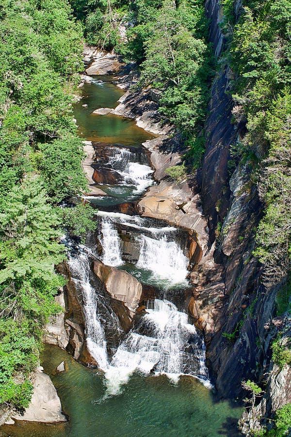 La bella cascata precipitante a cascata ha chiamato Angel Falls immagini stock libere da diritti