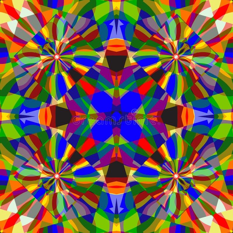 La bella linea di colore ondeggia e quadra l'illustrazione geometrica astratta di vettore del fondo royalty illustrazione gratis