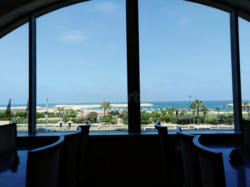 La bella mattina del mar Mediterraneo fotografia stock libera da diritti