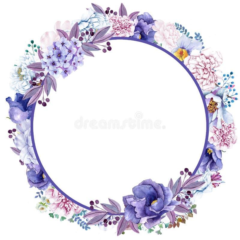 La bella menta dell'acquerello fiorisce la struttura Struttura del fiore dell'oro della menta! royalty illustrazione gratis