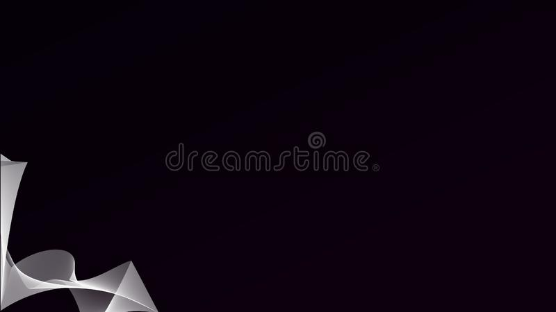 La bella onda astratta allinea sui precedenti scuri di pendenza fotografia stock libera da diritti