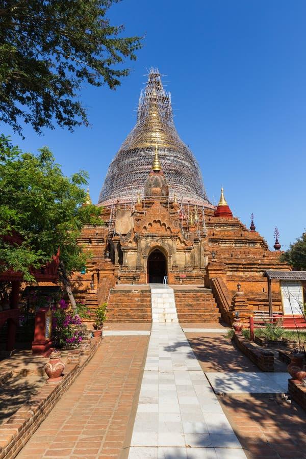 La bella pagoda di Dhammayazika, in Bagan famoso, il Myanmar fotografia stock libera da diritti
