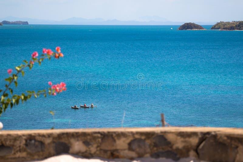 La bella spiaggia in curioso è il Madagascar fotografia stock libera da diritti