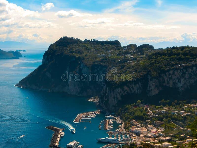 La belle île de Capri photo stock