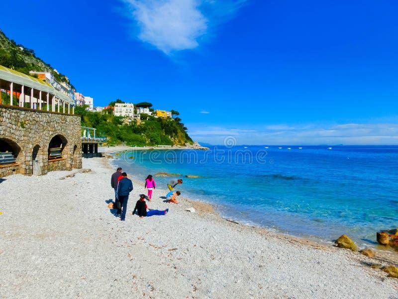 La belle île de Capri image stock