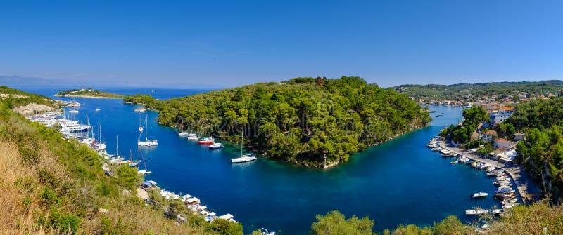 La belle île de Paxos, Grèce photos libres de droits