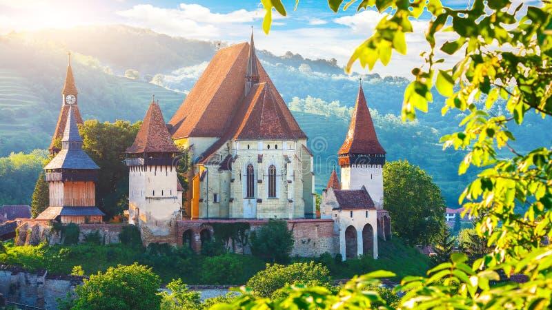 La belle architecture m?di?vale de Biertan a enrichi l'?glise de Saxon en Roumanie s'est prot?g?e par le site de patrimoine mondi images stock