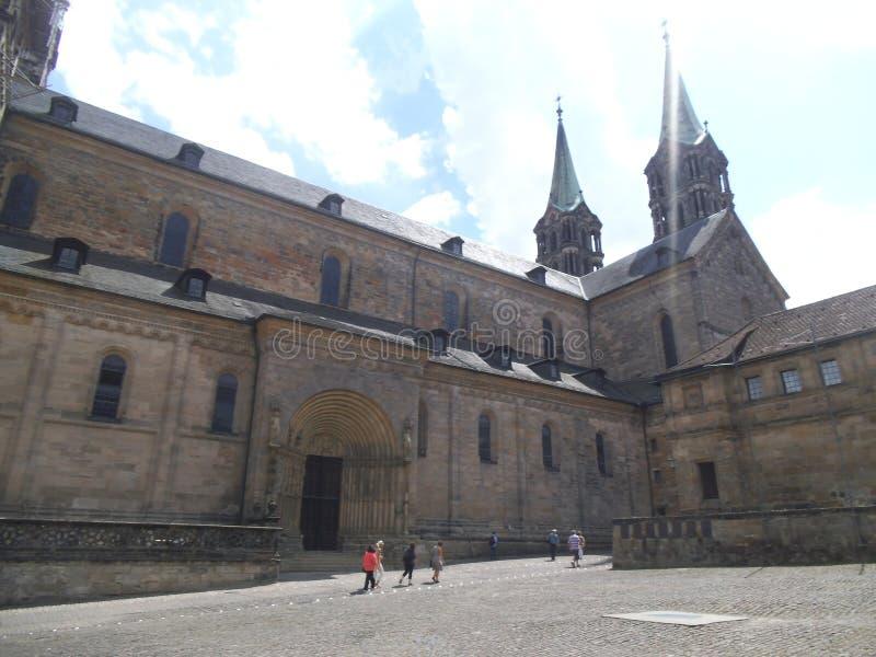 La belle cathédrale à Bamberg photos stock