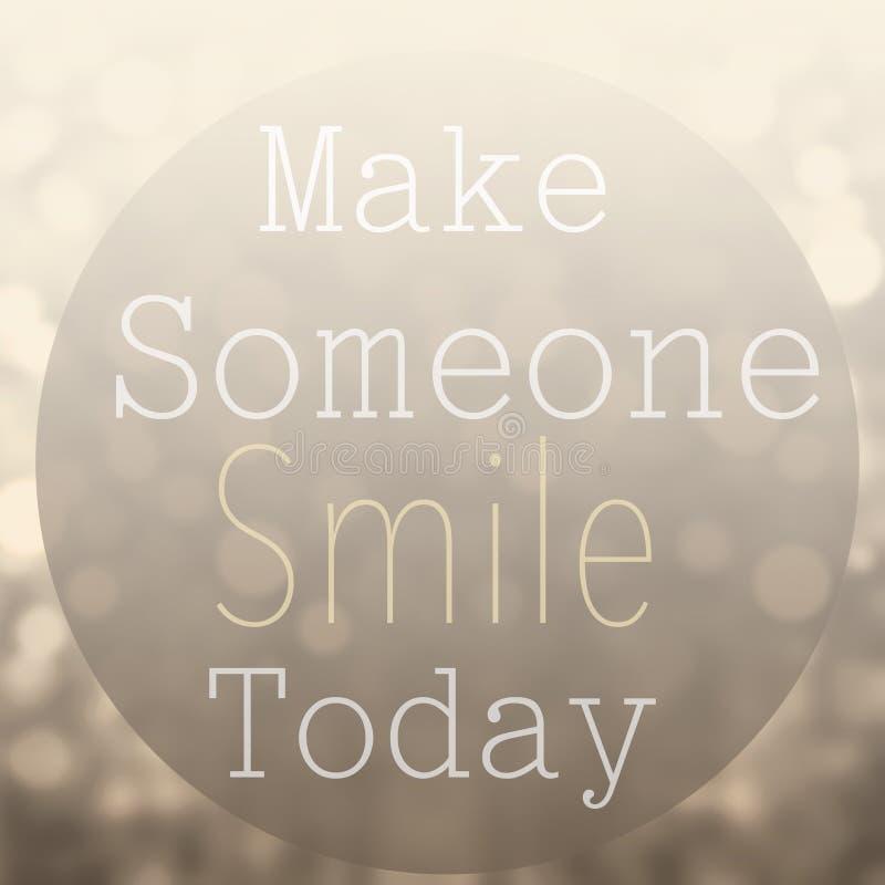 La belle citation de motivation avec le message incitent quelqu'un à sourire à image libre de droits