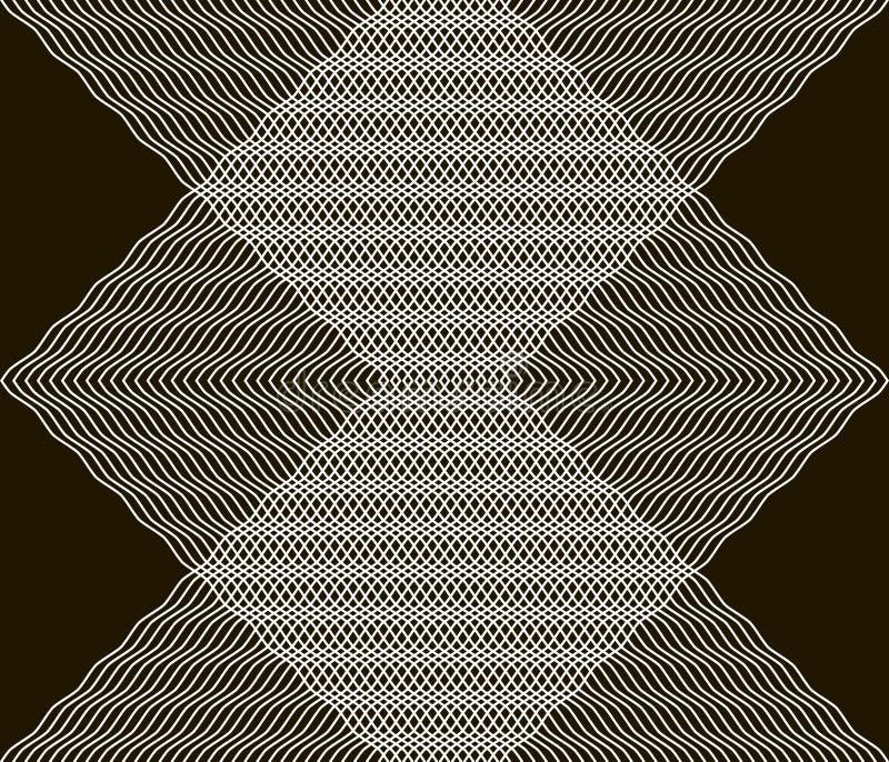 La belle copie sans couture noire et blanche de courber doucement raye illustration libre de droits