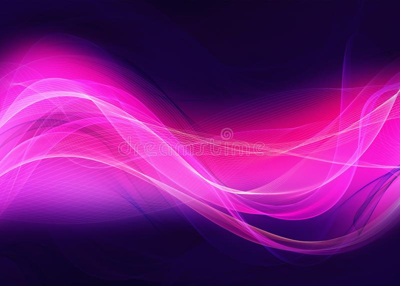 La belle flamme abstraite ondule la conception de fond illustration stock