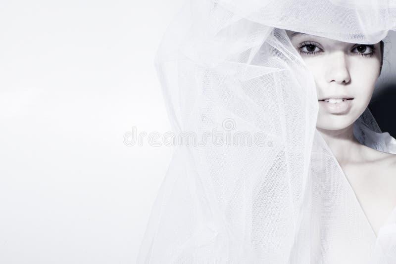 La belle mariée innocente images libres de droits