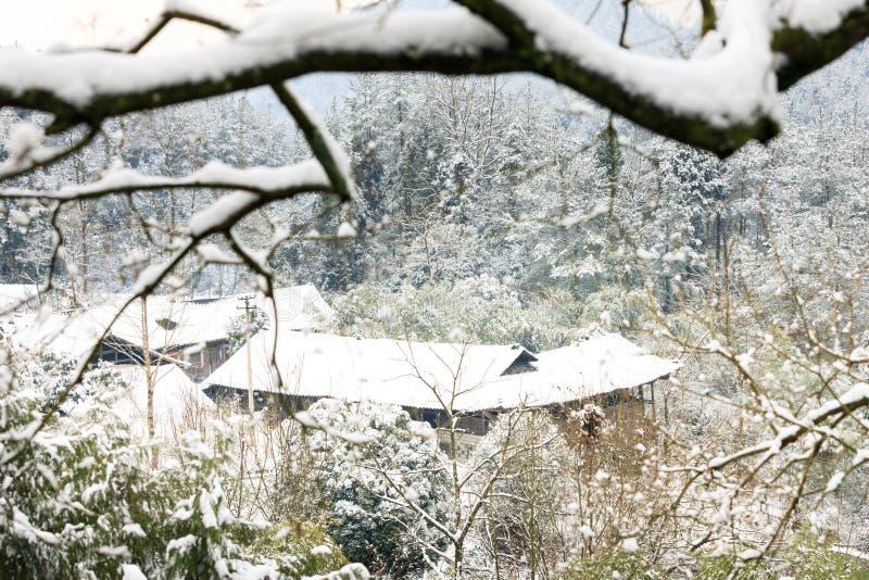 La belle neige de San Tanggai No2 photo stock
