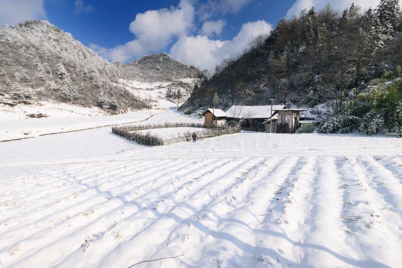 La belle neige du NO1 de San Tanggai photographie stock