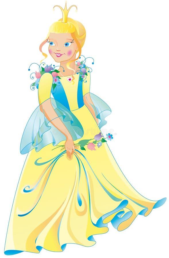 La belle princesse dans une robe merveilleuse illustration libre de droits