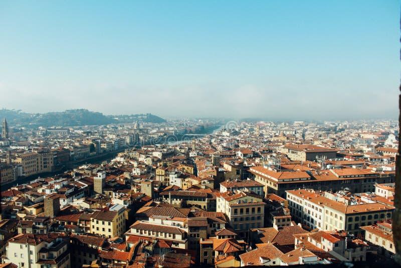 La belle vue à Florence images libres de droits