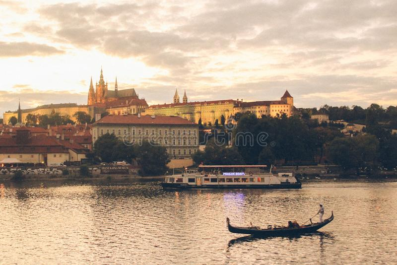 La belle vue à Praha images libres de droits
