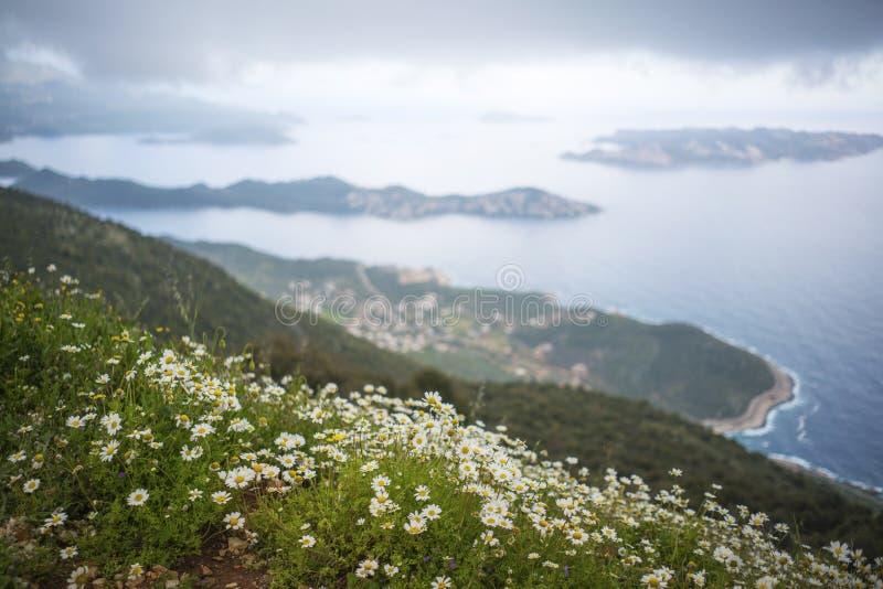 La belle vue de paysage de Kas, Turquie image stock
