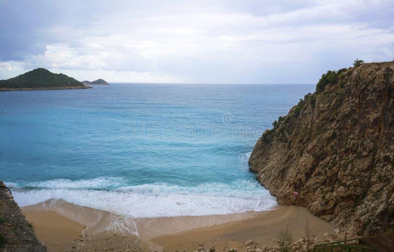 La belle vue de la plage de Kaputas, Kas, Turquie photos libres de droits