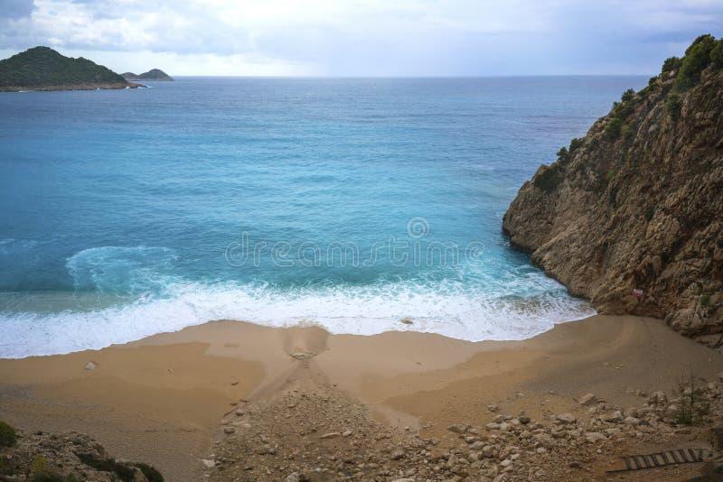 La belle vue de la plage de Kaputas, Kas, Turquie photographie stock