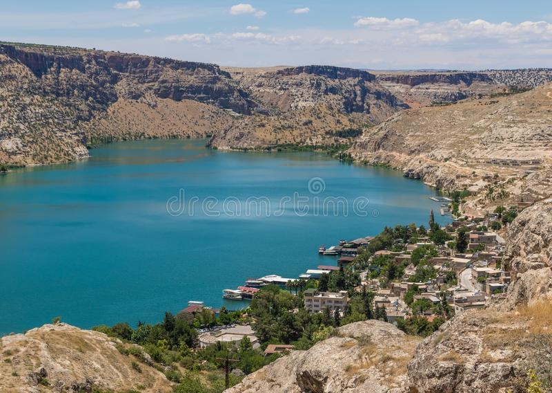 La belleza asombrosa de Halfeti, Turquía imagenes de archivo