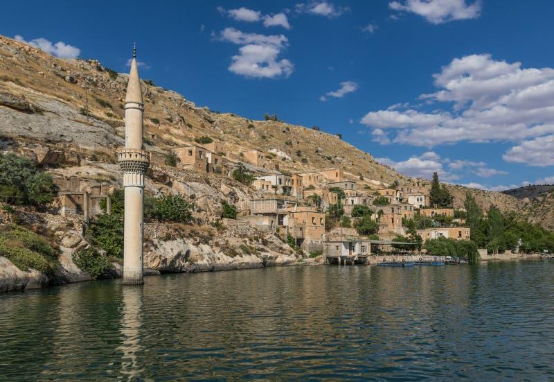 La belleza asombrosa de Halfeti, Turquía imagen de archivo