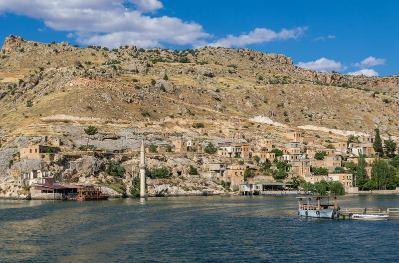 La belleza asombrosa de Halfeti, Turquía fotografía de archivo