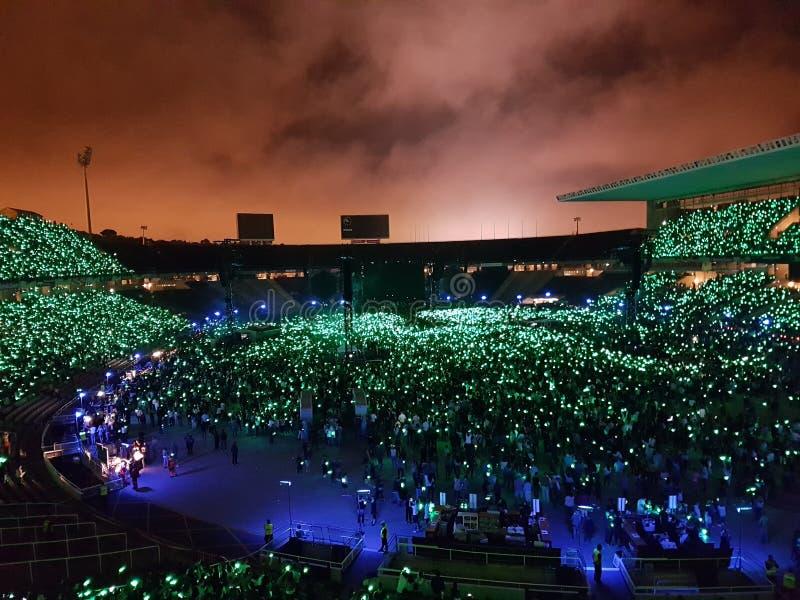 La belleza de un concierto imagen de archivo