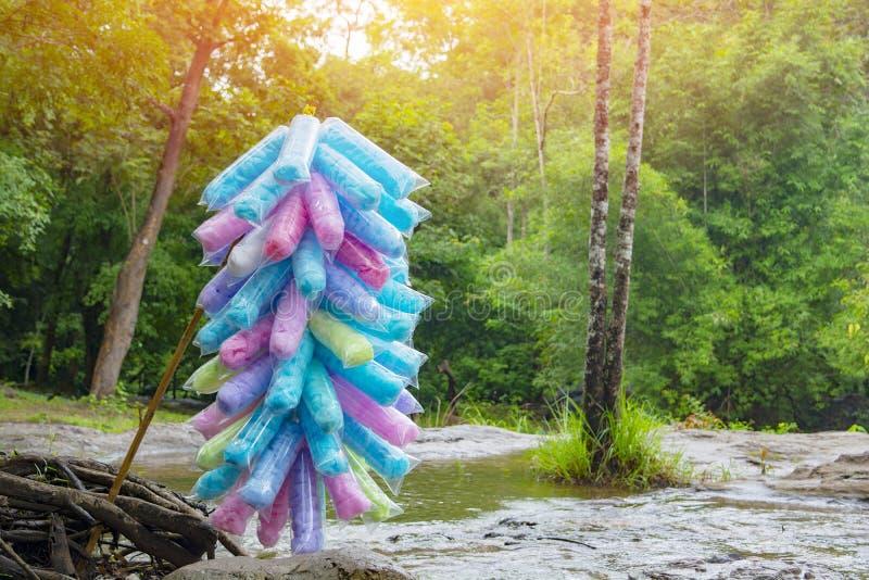 La belleza del caramelo de algodón colorida fotos de archivo