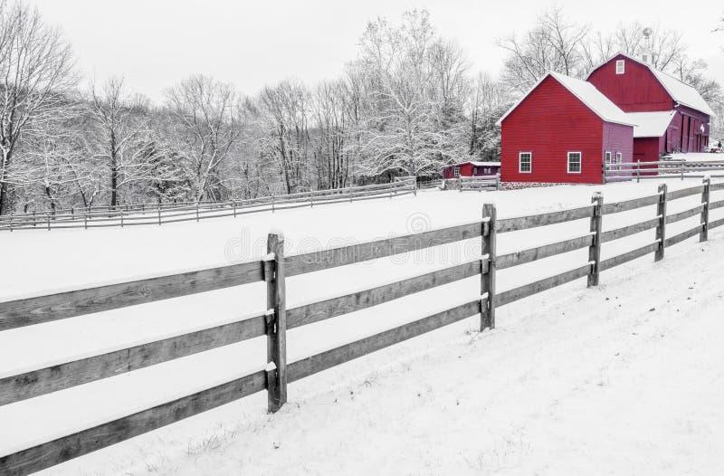 La belleza del invierno rural foto de archivo