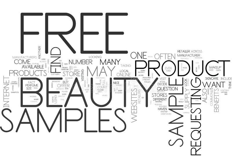 La belleza libre muestrea cuáles son y cómo encontrarlos concepto de la nube de la palabra libre illustration
