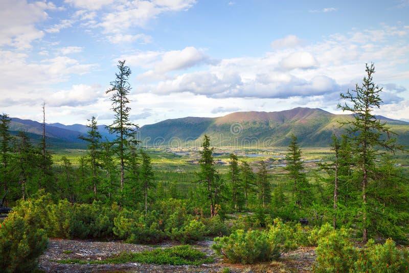 La belleza natural de Chukotka fotografía de archivo