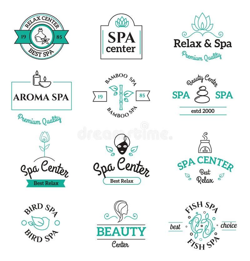 La belleza y el cuerpo del balneario cuidan plantillas del logotipo del vector libre illustration