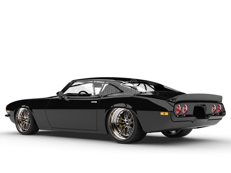 La bellezza automobilistica americana classica d'annata buio pesto ha sparato - la retrovisione royalty illustrazione gratis