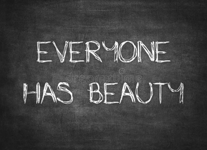 La bellezza che benedice la carit? ama ognuno scritto tipografico fotografia stock